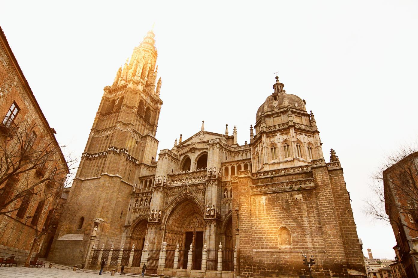 catedral de toledo, panorámica puerta principal