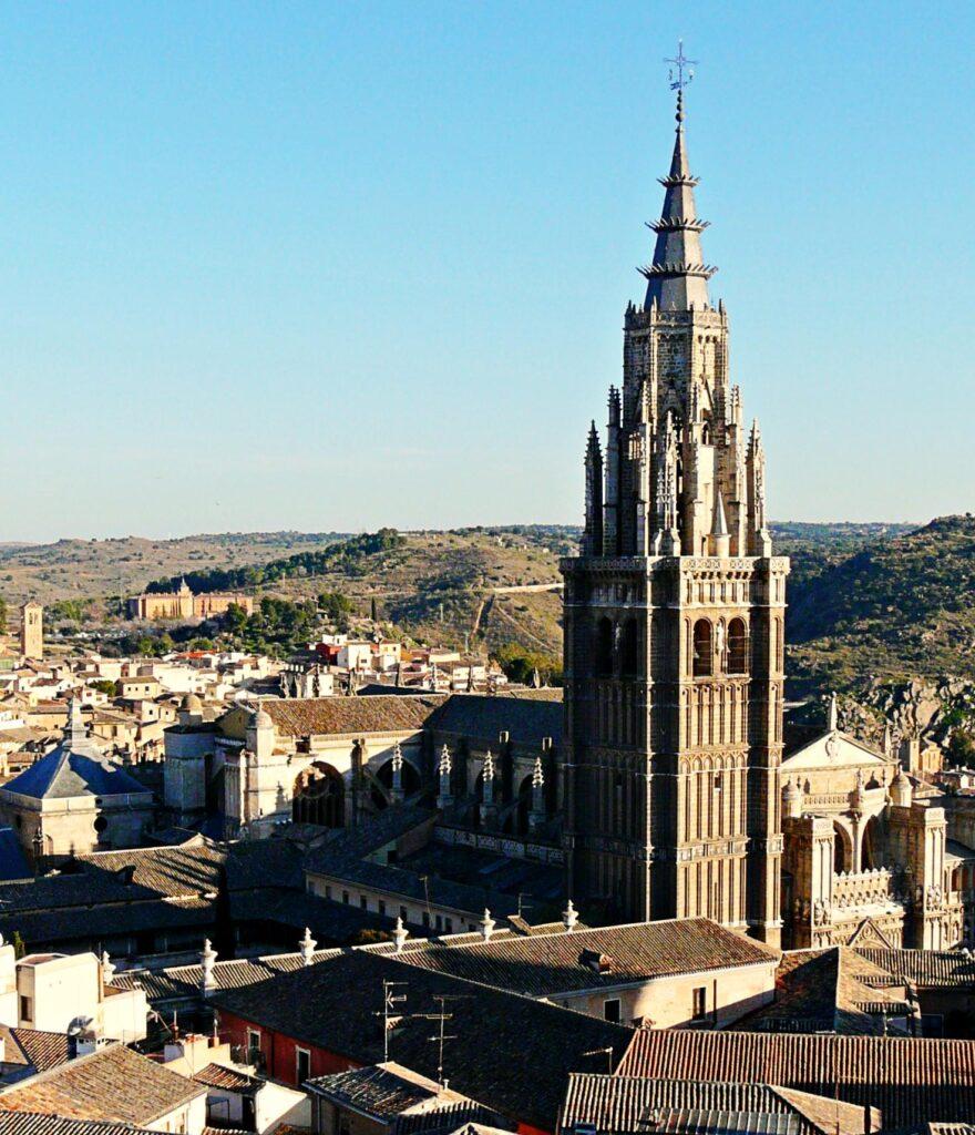 Torre de la Catedral de Toledo, vista aérea