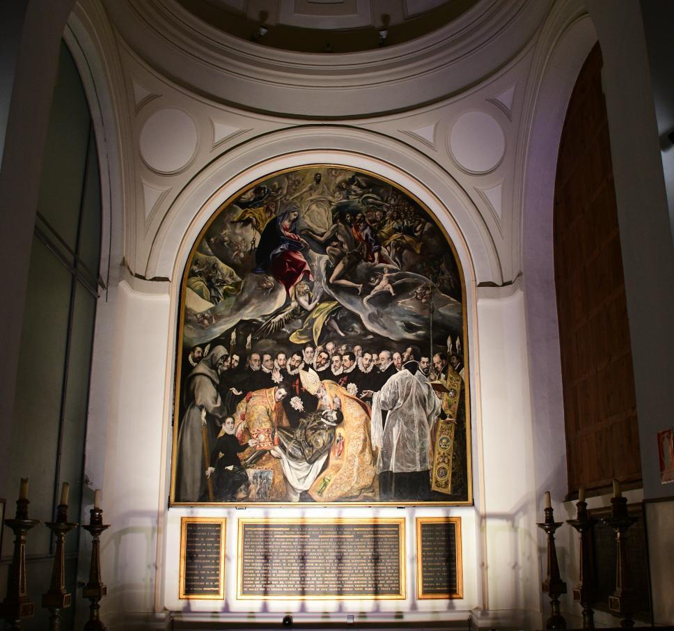 El entierro del señor de orgaz, vista desde abajo