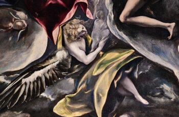 Detalle del cuadro del entierro del Conde de Orgaz del Greco